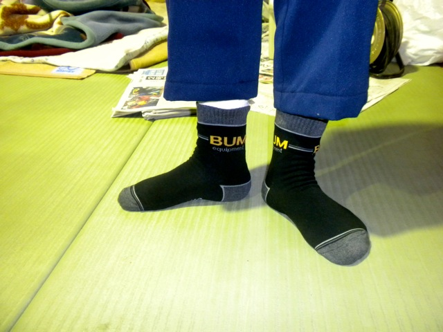 Photos of fashionable B.U.M. socks in Kitaibaraki