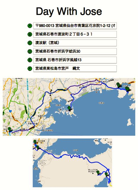 May 21, 2011: Socks for Japan Trip Plan with Prof. Jose Holguin-Veras