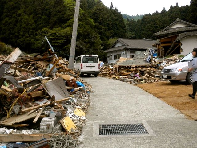 May 21, 2011: Socks for Japan Distribution Van in the Matsushima Disaster Zone