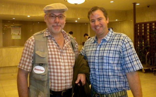 May 21, 2011: Socks for Japan's Jason Kelly Meeting RPI Prof. Jose Holguin-Veras
