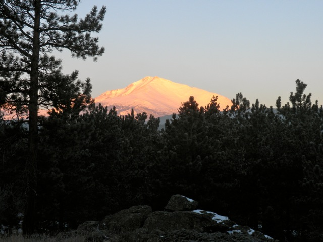 Rocky Mountains' Mt. Meeker on Christmas Eve morning 2010