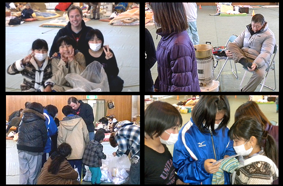Photos of a young family shelter in Iwaki
