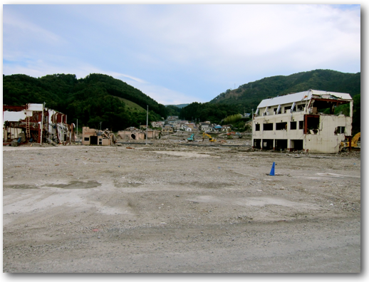 Downtown Onagawa cleared photo one