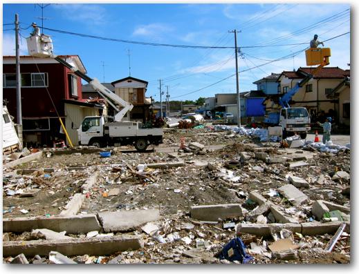 NTT at work in the Ishinomaki disaster zone