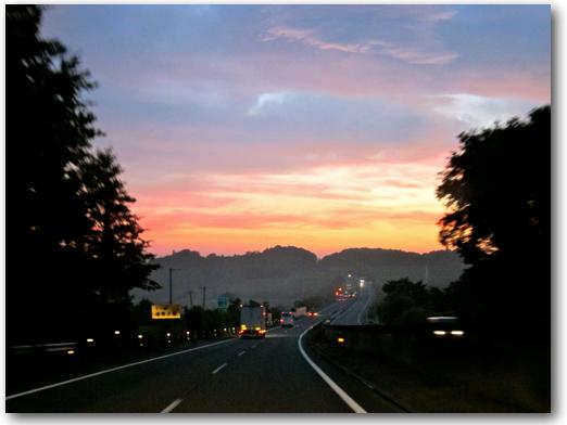 Sunrise over Tohoku Expressway