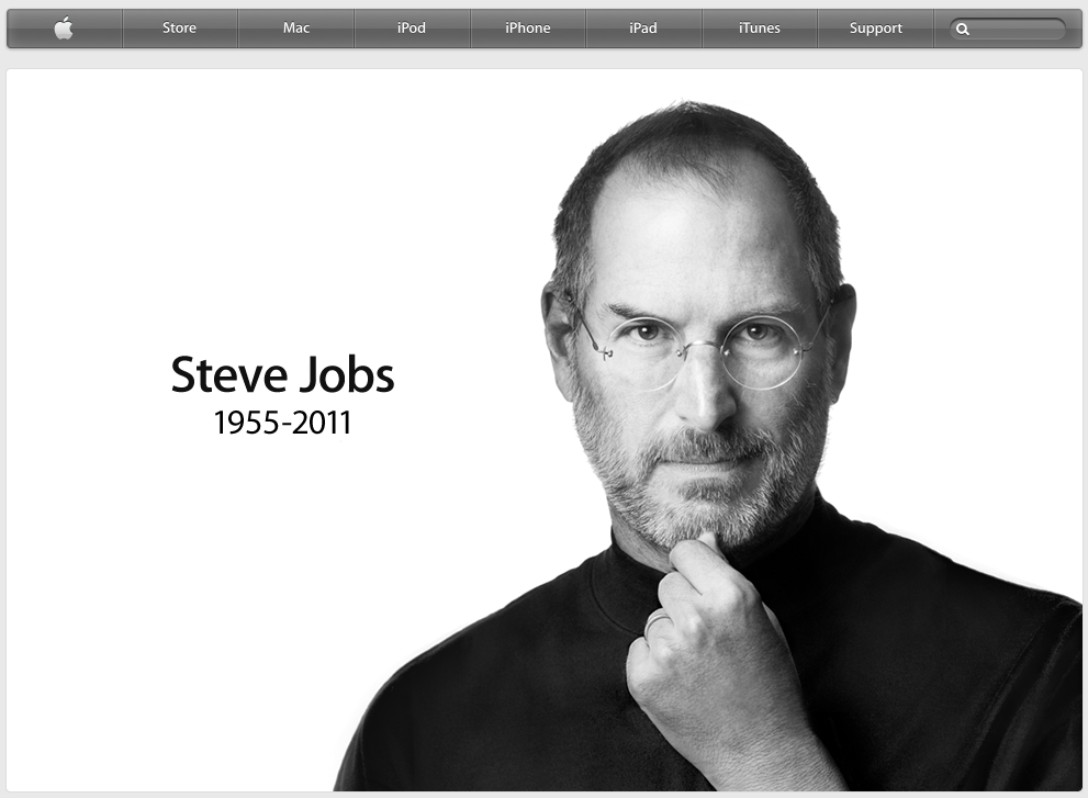 Steve Jobs memorial at Apple site