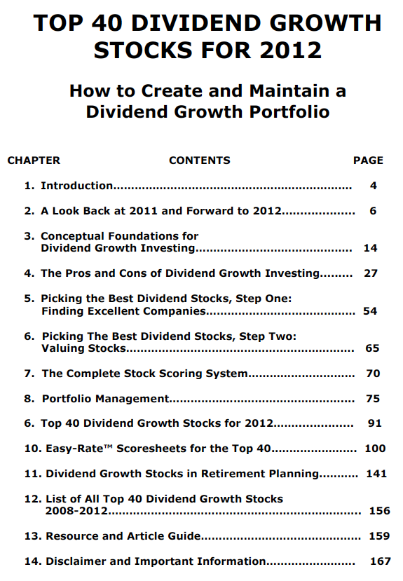 Jason Kelly | The Top 40 Dividend Growth Stocks